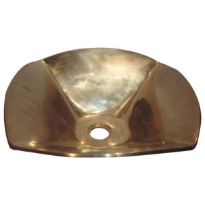 Cast Bronze Sink Flower Shaped by Coppersmith Creations