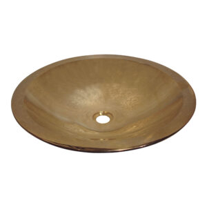 Cast Bronze Sink Oval Double Walled by Coppersmith Creations