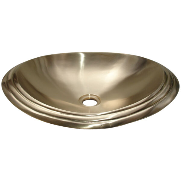 Cast Bronze Sink Oval Shiny Yellow by Coppersmith Creations