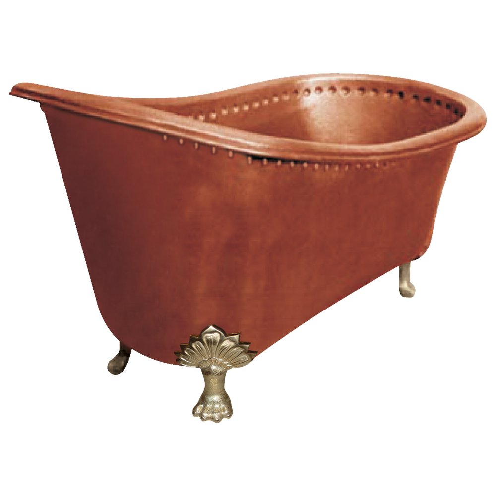 Copper bathtub clawfoot design copper tubs clawfoot tub for Copper claw foot tub