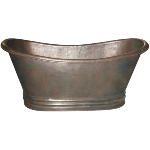 Copper Bathtub Thin Rolled Edge by Coppersmith Creations