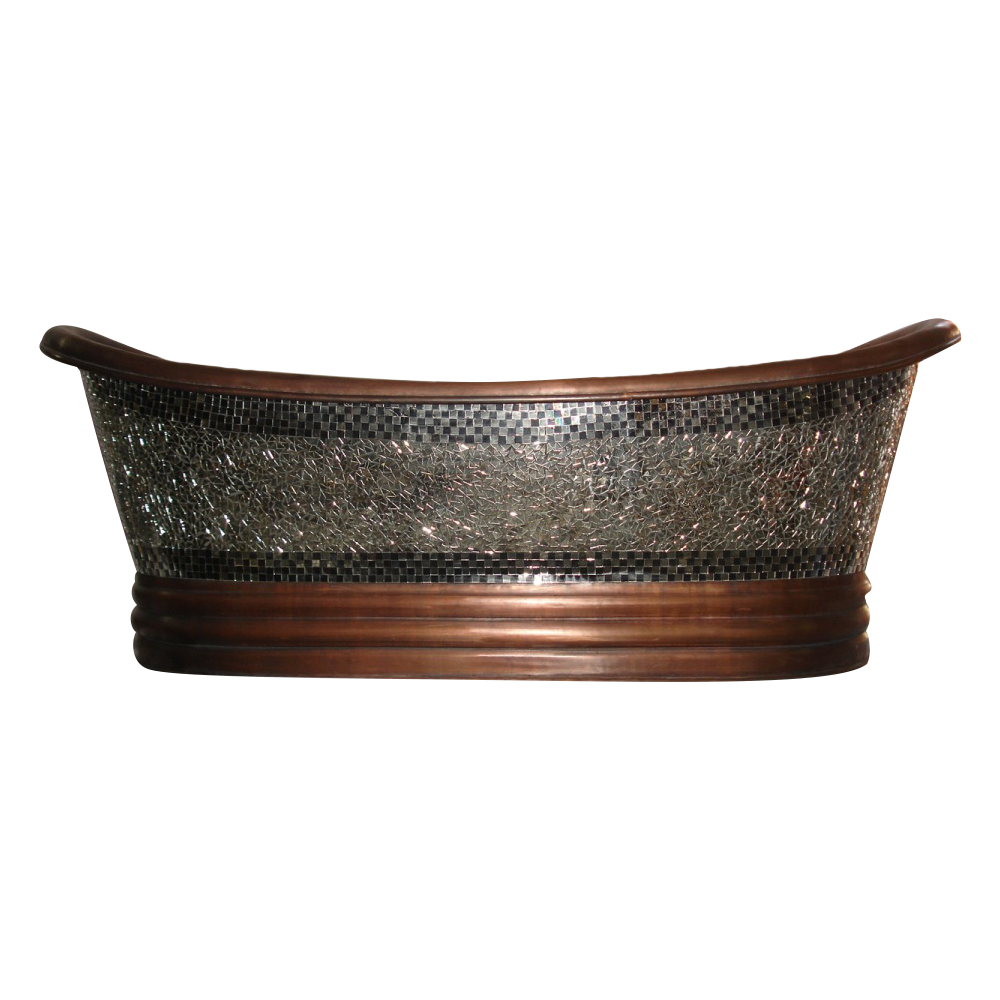 Copper Bathtub Glass Mosaic Outside Coppersmith 174 Creations