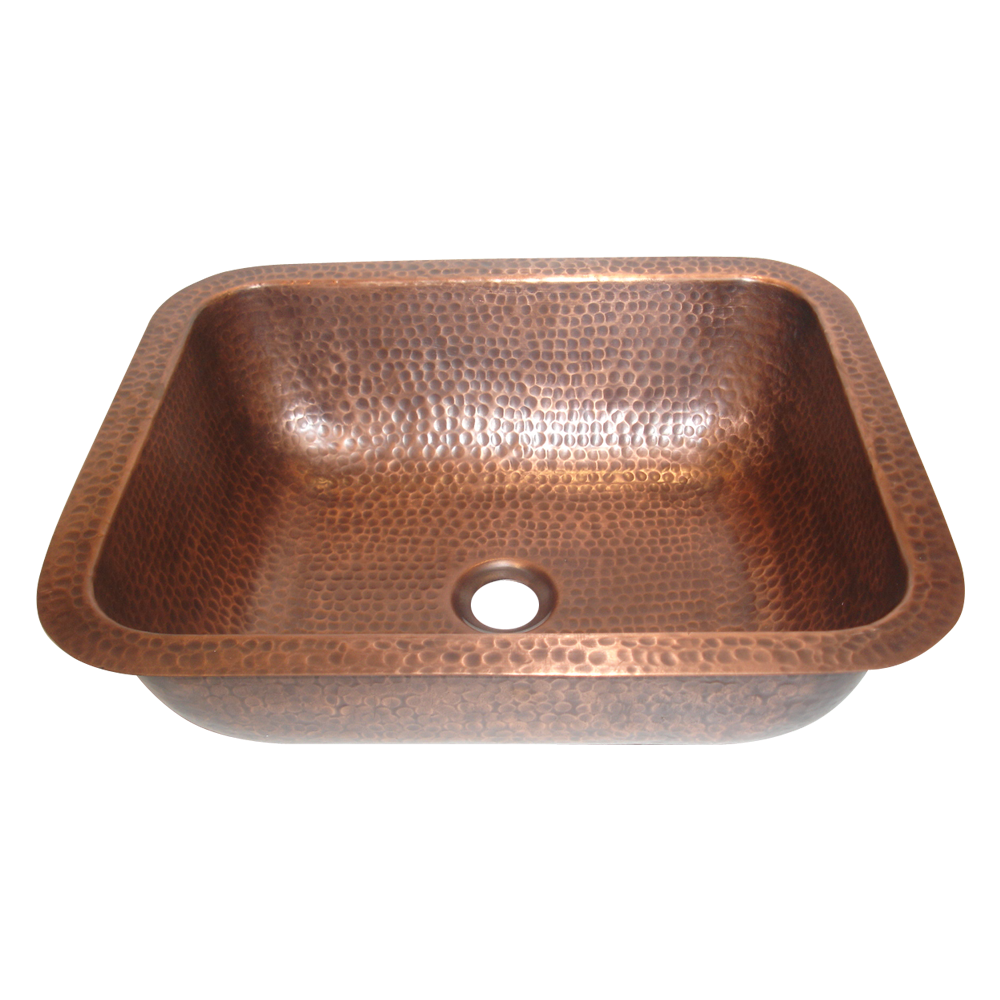 Oval Hammered Copper Sink - Coppersmith Creations