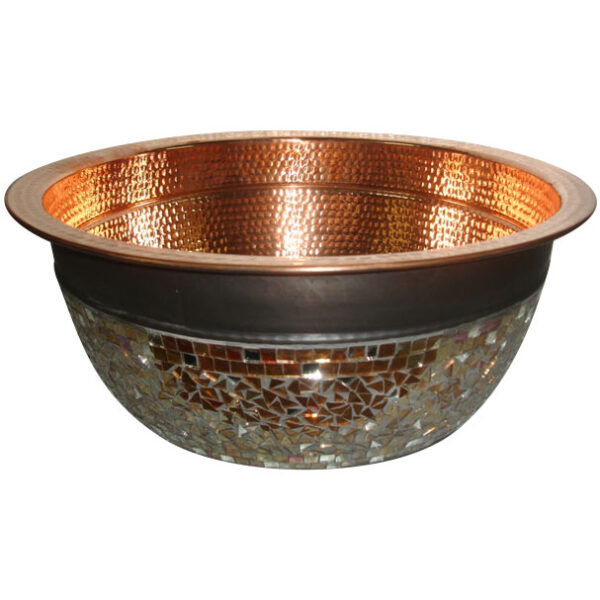 Copper Sink Glass Mosaic Outside