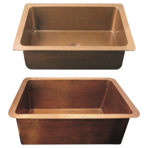 Copper Kitchen Sink Plain & Hammered by Coppersmith Creations
