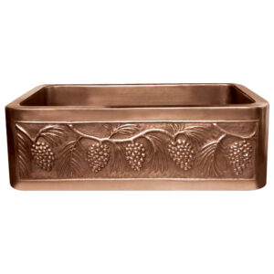 Copper Farmhouse Sink 5 Grape Front Apron