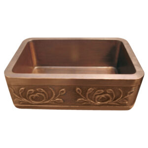 Copper Farmhouse Sink Petal Front Apron