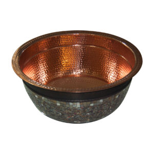 Copper Sink Glass Mosaic Outside