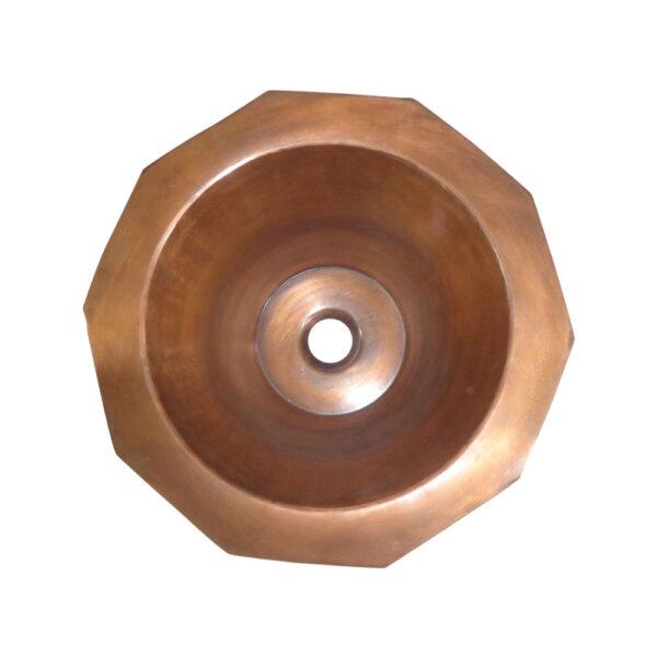 Copper Sink Double Wall Decagon Shape
