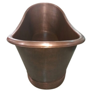Copper Bathtub Thin Rolled Edge