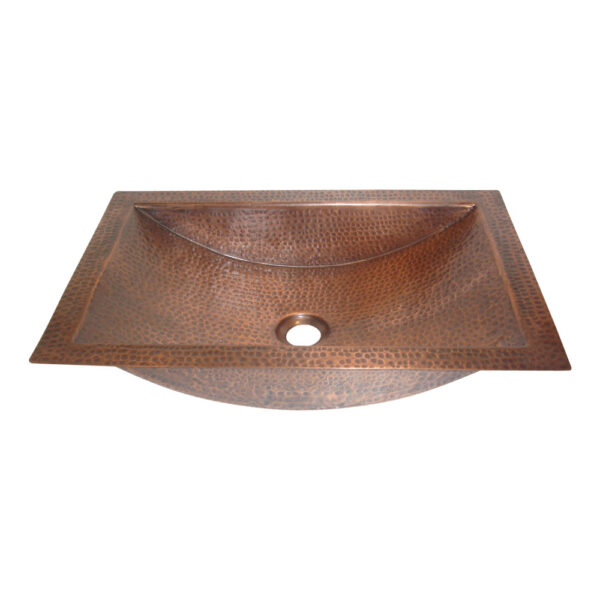 Copper Sink Rectangular Design by Coppersmith Creations