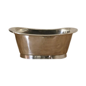 Copper Bathtub Nickel Inside Nickel Outside by Coppersmith Creations