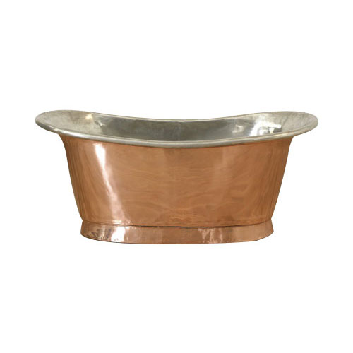 Copper Bathtub Tin Inside Shiny Copper Outside by Coppersmith Creations
