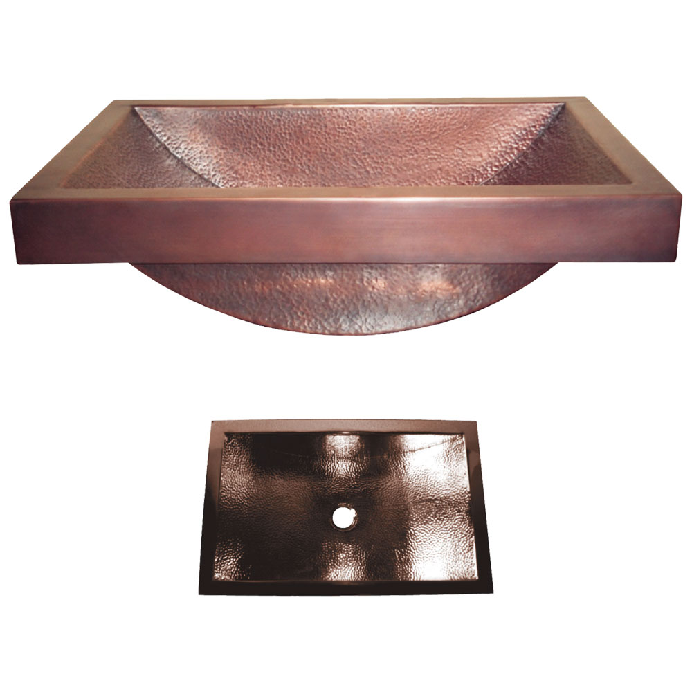 Copper SInk with 4 inch apron option by Coppersmith Creations