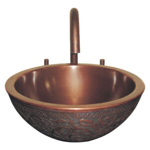 Copper Sink double wall embossing outside by Coppersmith Creations
