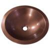 Round Copper Sink Hammered 18 x 5