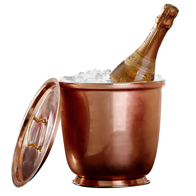Copper Lidded Ice Bucket by Coppersmith Creations