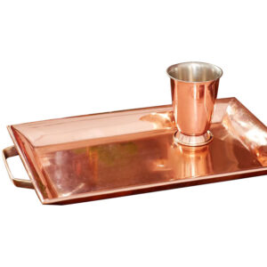 Copper tray & glass by Coppersmith Creations