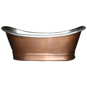 Antique Copper Bathtub with Nickel Interior