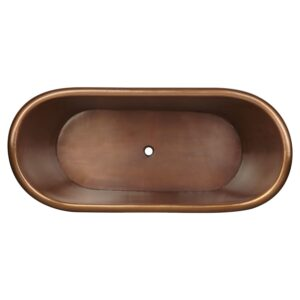 Glass Mosaic Copper Bathtub