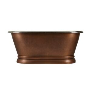 Copper Pedestal Tub Nickel Interiors