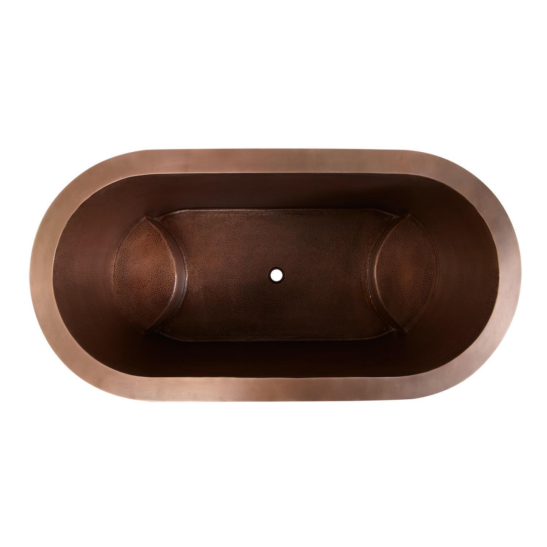 Double Walled Copper Bathtub