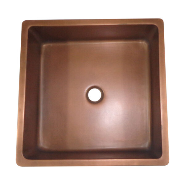 Square Double Wall Copper Sink by Coppersmith Creations