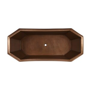 Eight Sided Hammered Copper Clawfoot Tub