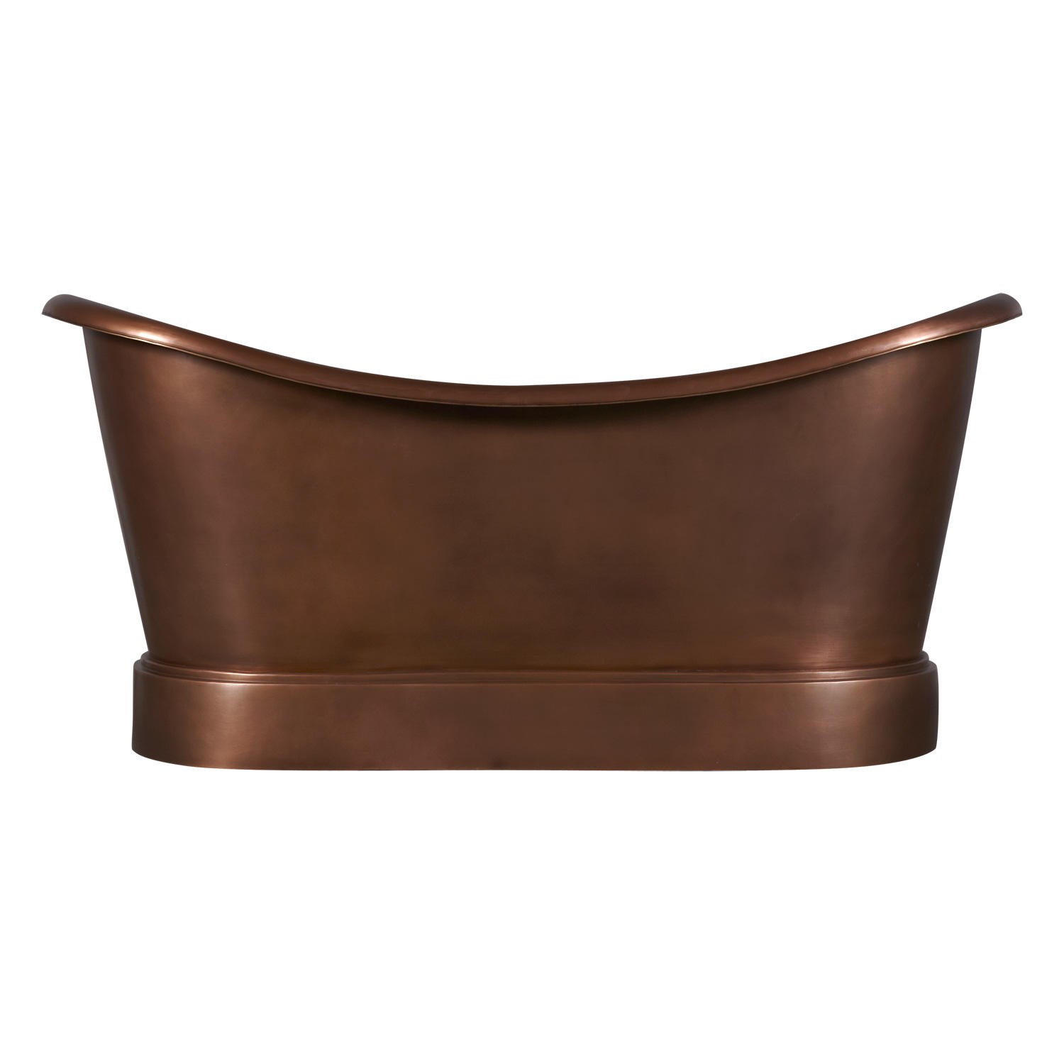 Smooth Double Slipper Copper Bathtub Copper Bathtubs Copper Tubs