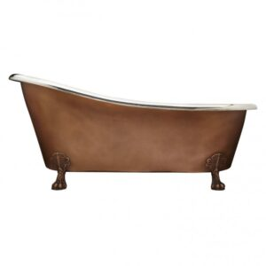66 inch Smooth Copper Nickel Clawfoot Tub
