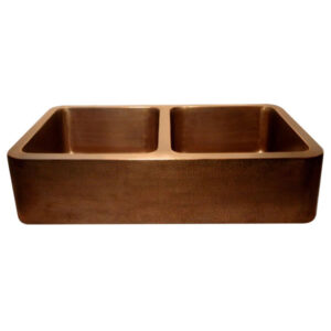 Rectangular Double Bowl Copper Kitchen Sink