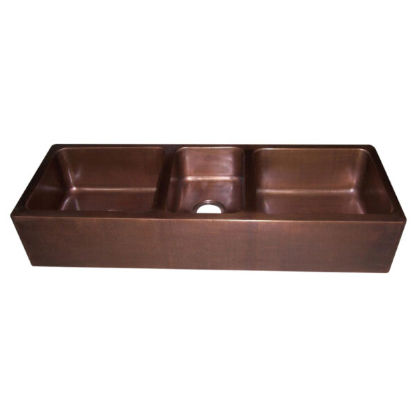 Triple Bowl Copper Kitchen Sink