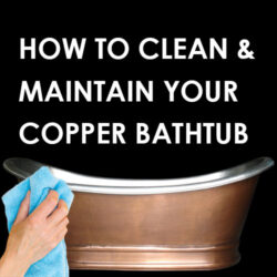 cleaning copper bathtub