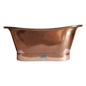 Straight Base Copper Bathtub Nickel Inside