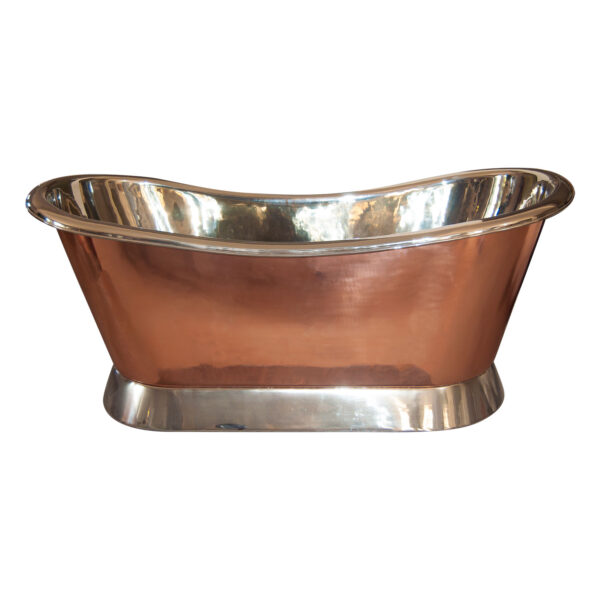 Copper Bathtub Nickel Inside & on Base