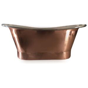 Straight Base Copper Bathtub Nickel Inside