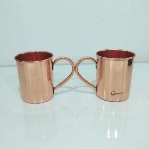 Cylindrical Copper Mugs Plain