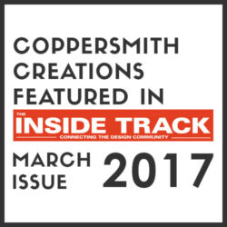 Coppersmith Creations featured in the Inside Track