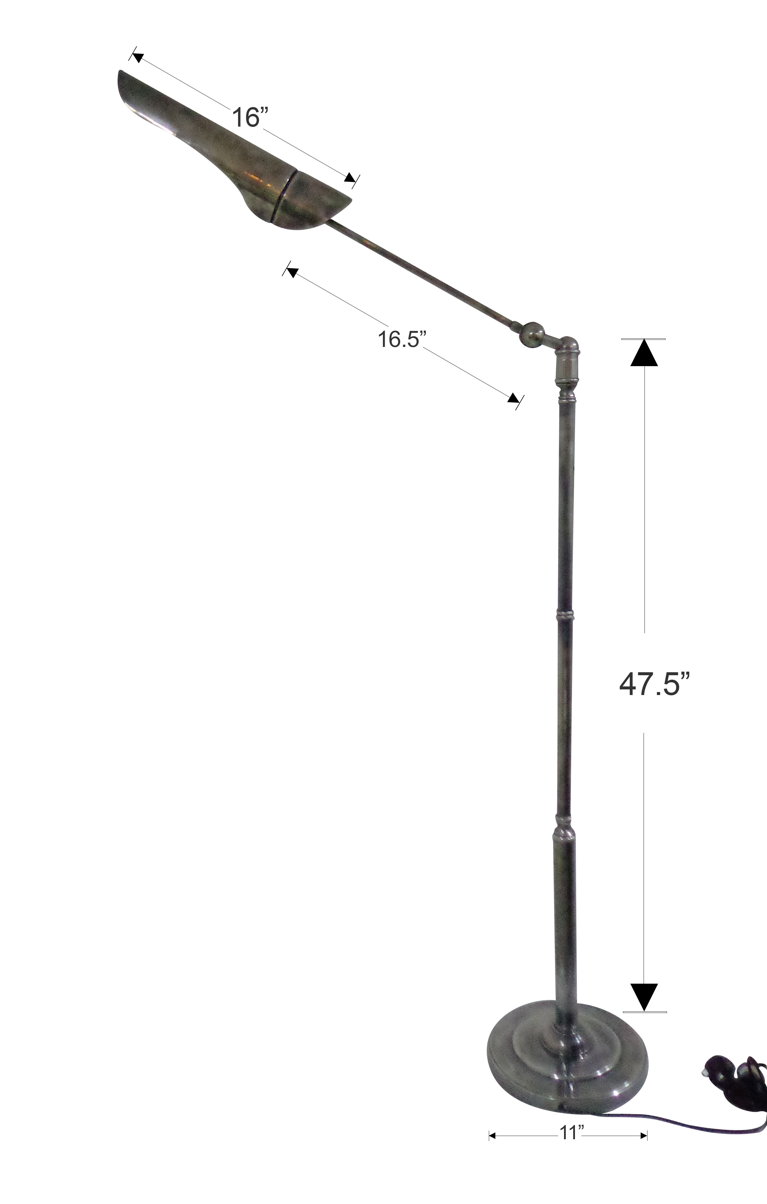 tall brass floor lamp