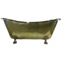 Clawfoot Brass Bathtub Hammered Exterior