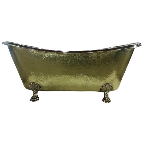 Clawfoot Brass Bathtub Hammered Exterior