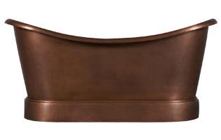 double slipper copper bathtub