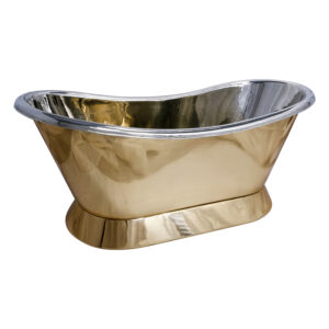 Pedestal Brass Bathtub Nickel Inside