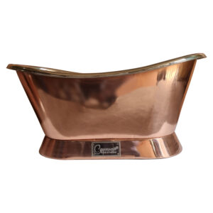 Slanting Base Copper Bathtub Nickel Inside Copper Outside