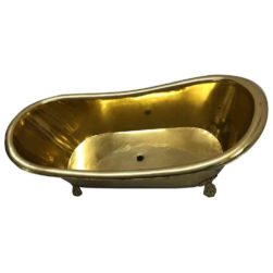 Clawfoot Brass Bathtub