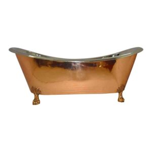 Copper Clawfoot Bathtub Nickel Inside
