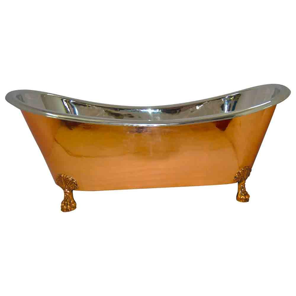 Copper Clawfoot Bathtub Nickel Inside Coppersmith 174 Creations