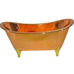 Copper Bathtub Full Copper Finish & Brass Legs