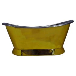 Pedestal Brass Bathtub Nickel Inside