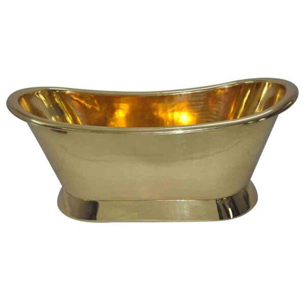 Pedestal Brass Bathtub